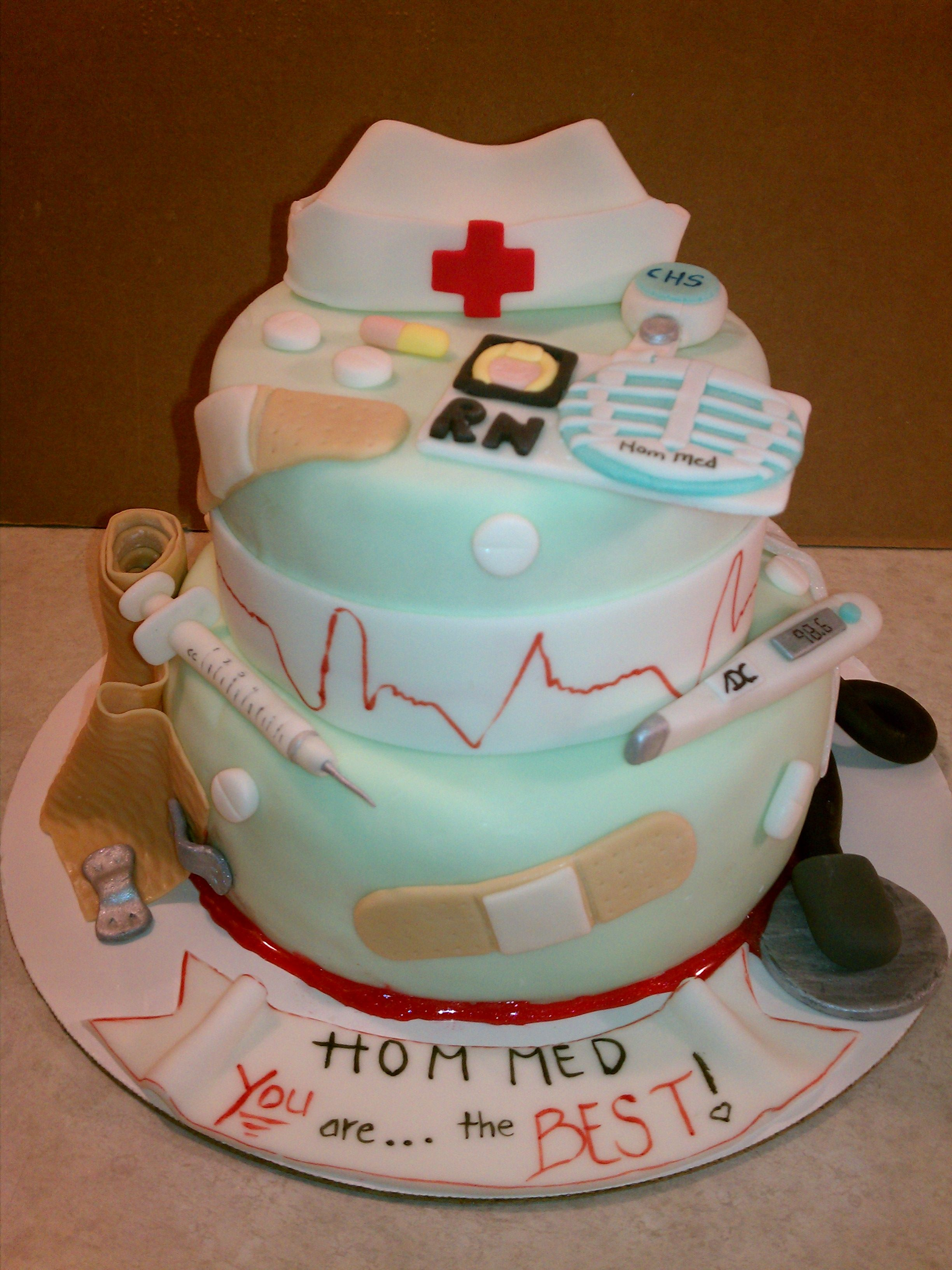 Nurses Day Cake Heart Strings Cakes Made By Me Cake