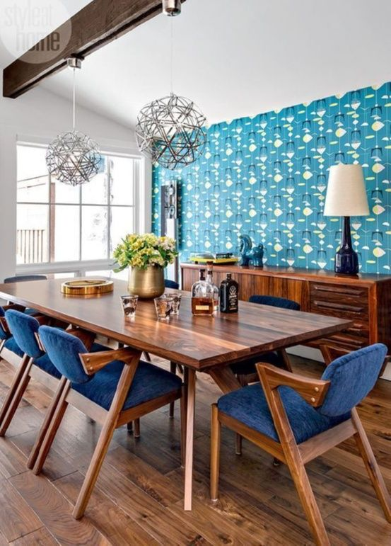 ultra stylish lights teal and blue mid century modern cabin dining rh pinterest com