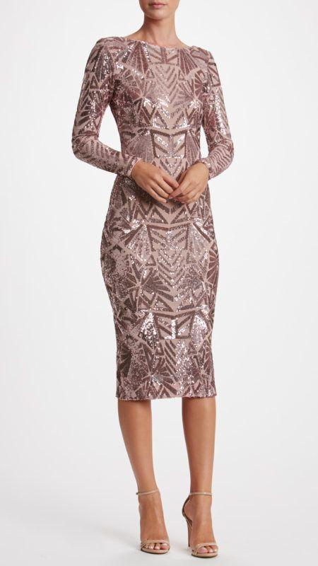6f34c9bb38a1f1 Body Hugging Dress, Sequin Midi Dress, Dress The Population, Dress Cuts, The