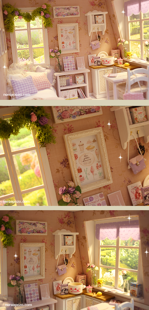 NEW DIORAMA PINK and LILAC ATTIC BedRoom