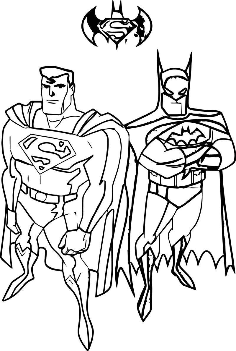 Batman Vs Superman Coloring Page Batman Vs Superman Batman Superman