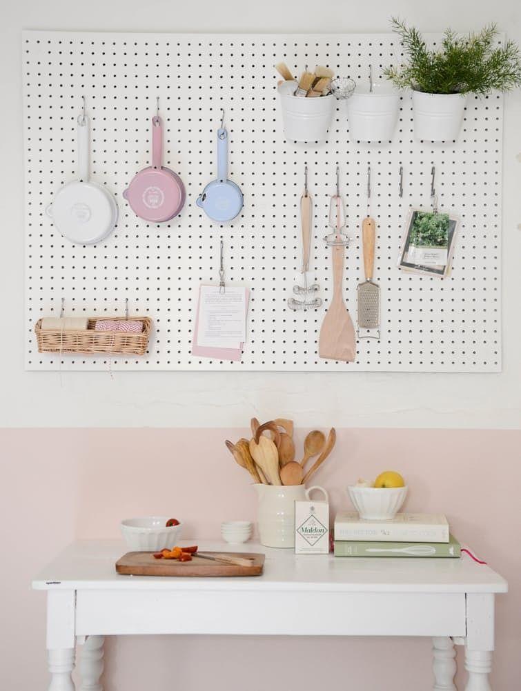 4 smart fresh ways to use pegboards in the kitchen smart kitchen rh pinterest com