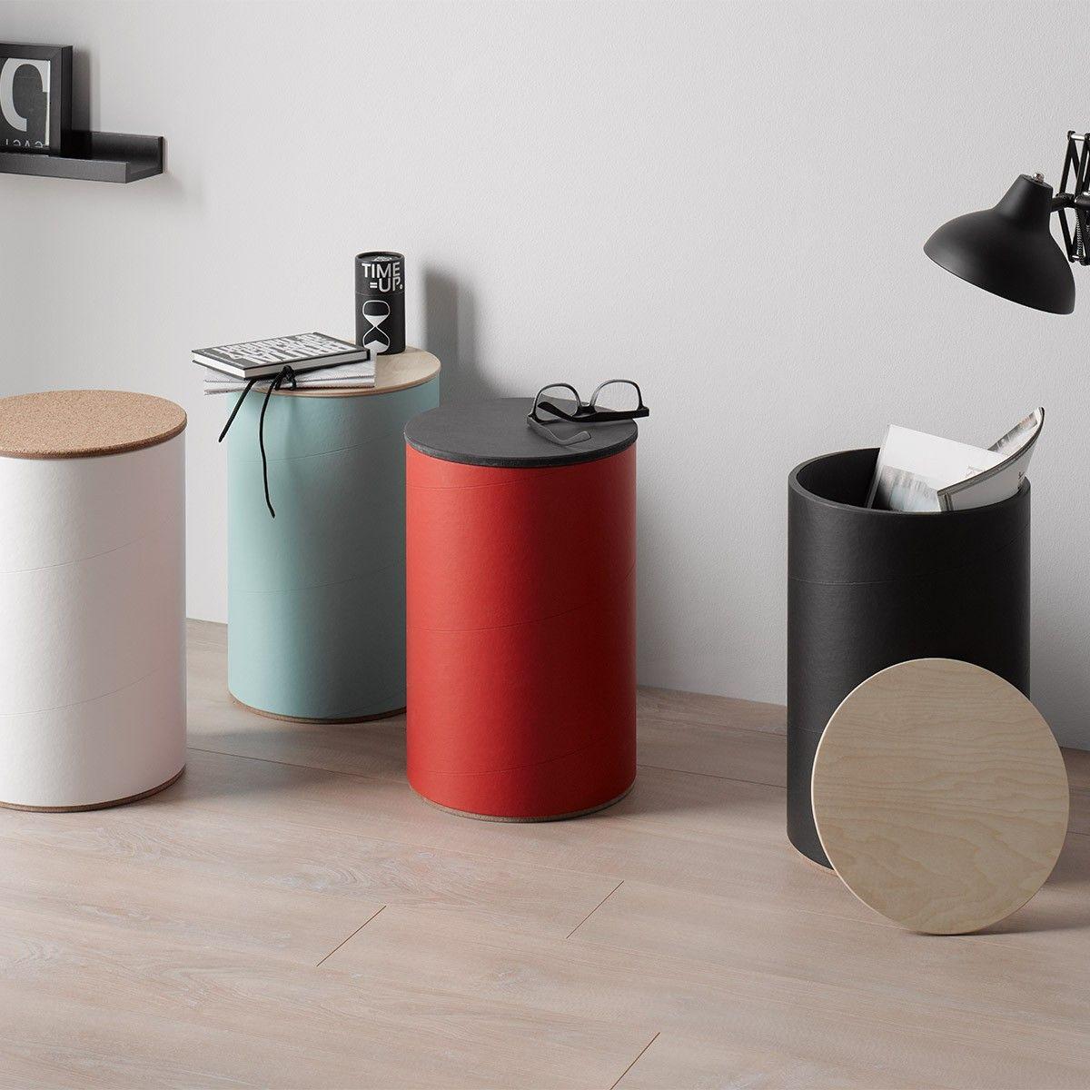 Rund Stil Tondo Hocker Mit Stauraum Selekkt Heim Fur Junges Design In 2020 Mit Bildern Hocker Mit Stauraum Hocker Weiss Hocker