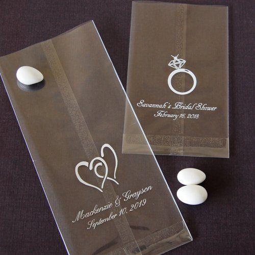 Personalized Wedding Cellophane Favor Bags Beau Coup Candy Bags Wedding Wedding Favor Bags Candy Bar Wedding