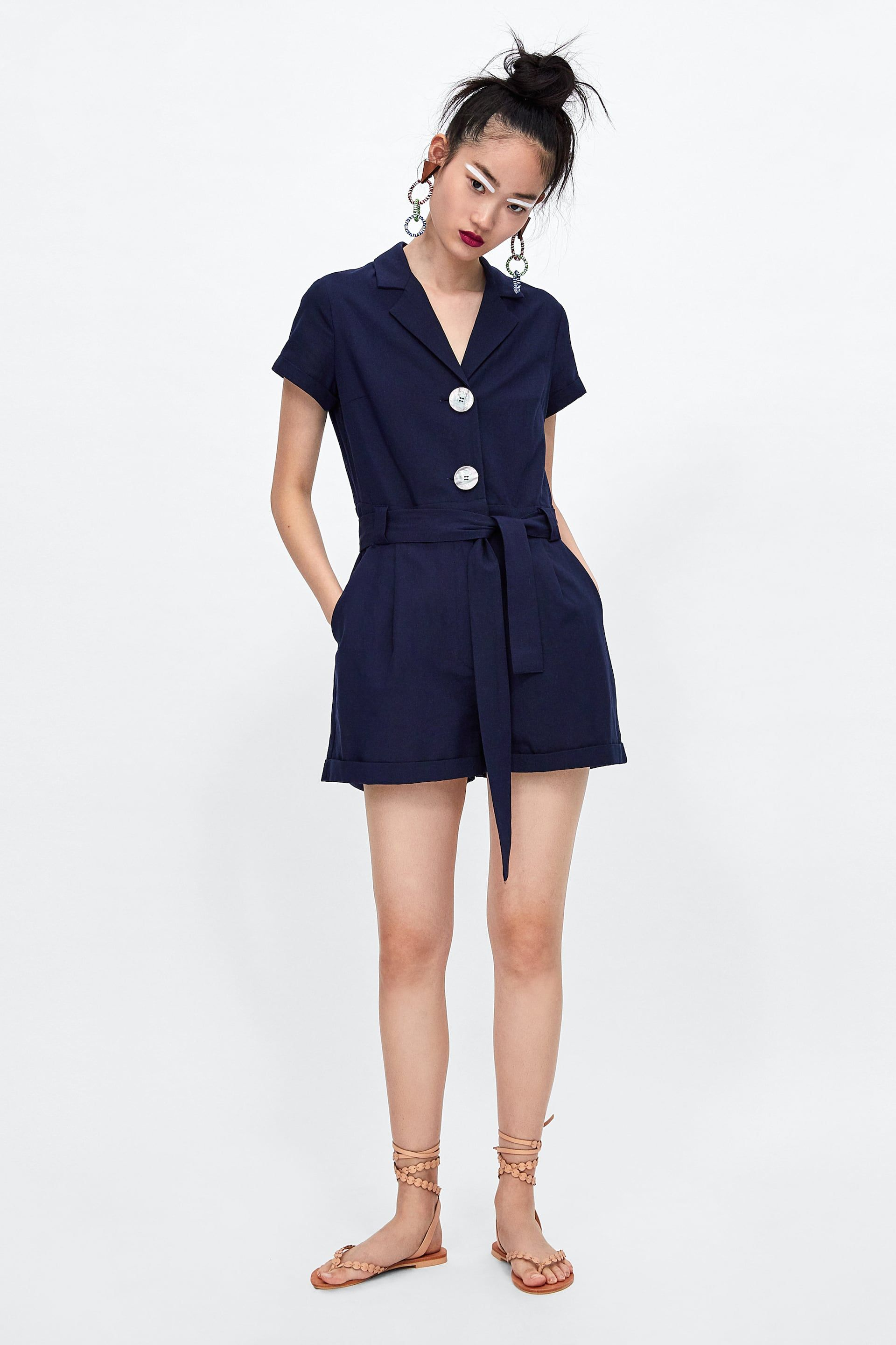 a0690dd4dc Image 1 of SHORT JUMPSUIT WITH BUTTONS from Zara
