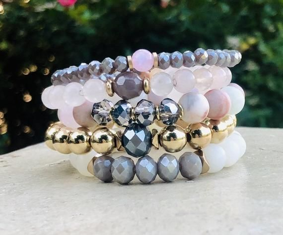 Stretchy Bracelet Set Unique Gifts For Her Czech Bead