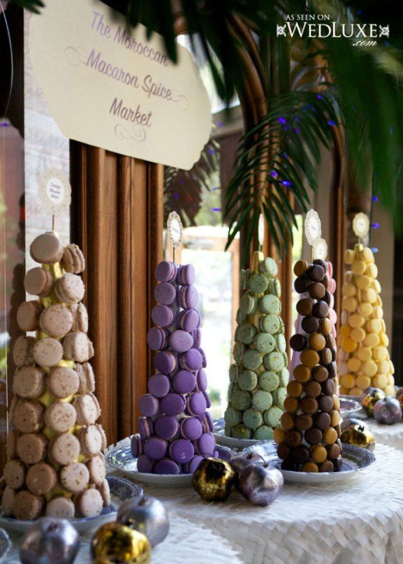 Moroccan Inspired Wedding Desert Bar Table