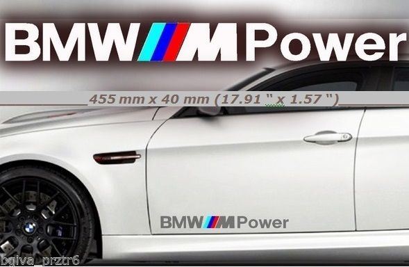 PAIR Pieces CAR STICKERS FOR BMW SERIES DOOR DECALS BMW M - Bmw car decals stickers