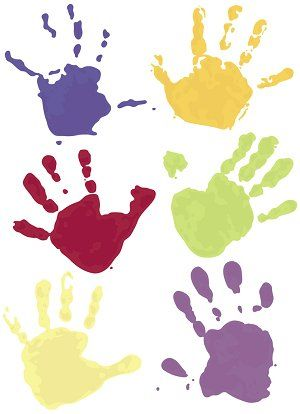 handprint color combo would be great in a frame