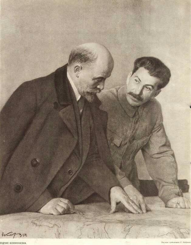 Resultado de imagen de Lenin y Stalin