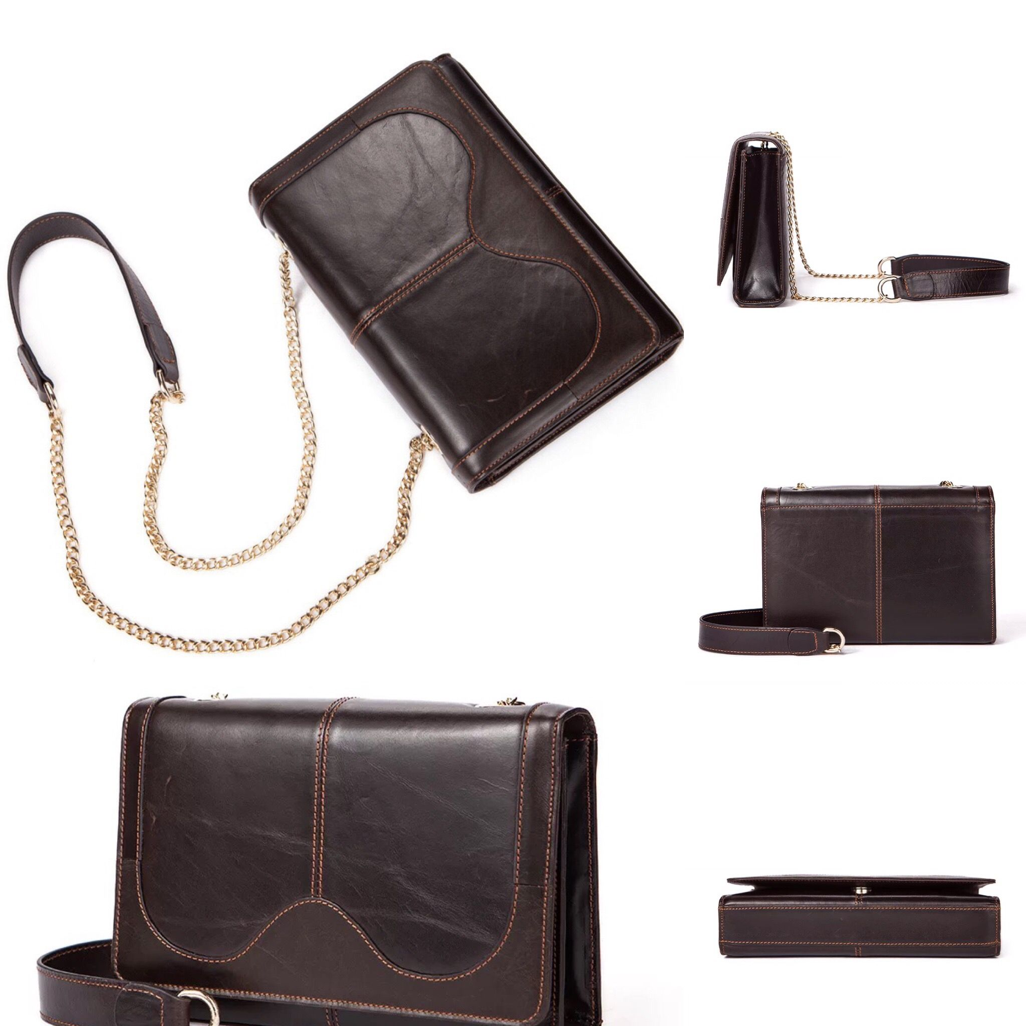 2017 Leather Handbags Korean Version Of The Retro Lady Shoulder Bag