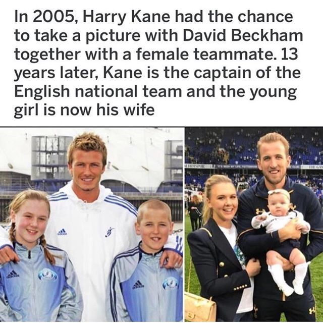 NOW THIS IS AWESOME...what a cool story! #england #worldcup #lovestory #beckham #kane #soccer #a3dlife #sports