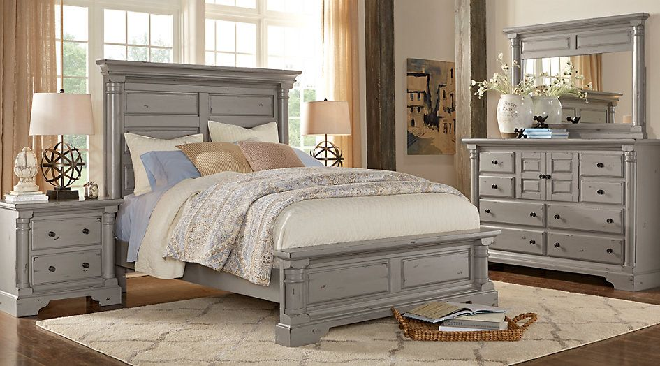 picture of claymore park gray 5 pc king bedroom from