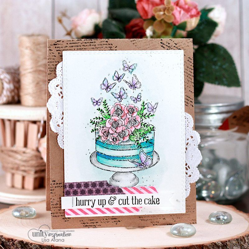 A Beautiful Birthday Card Using Watercolor Markers Beautiful