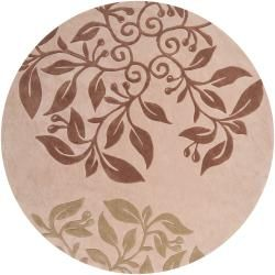Hand-tufted Tan Damsels Rug (8' Round)