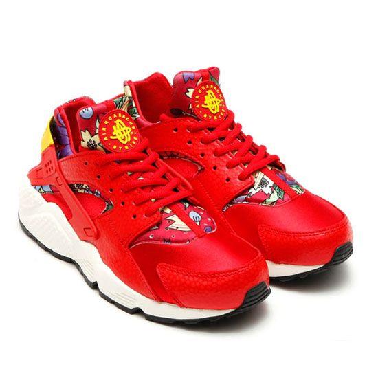 ac9c52ece2f1 Women s Nike Air Huarache Red Aloha Floral