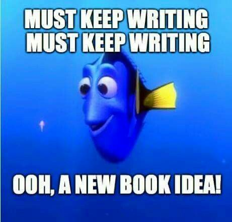 And so I can focus on my original story, I try to think of how I could put the new idea into my story.