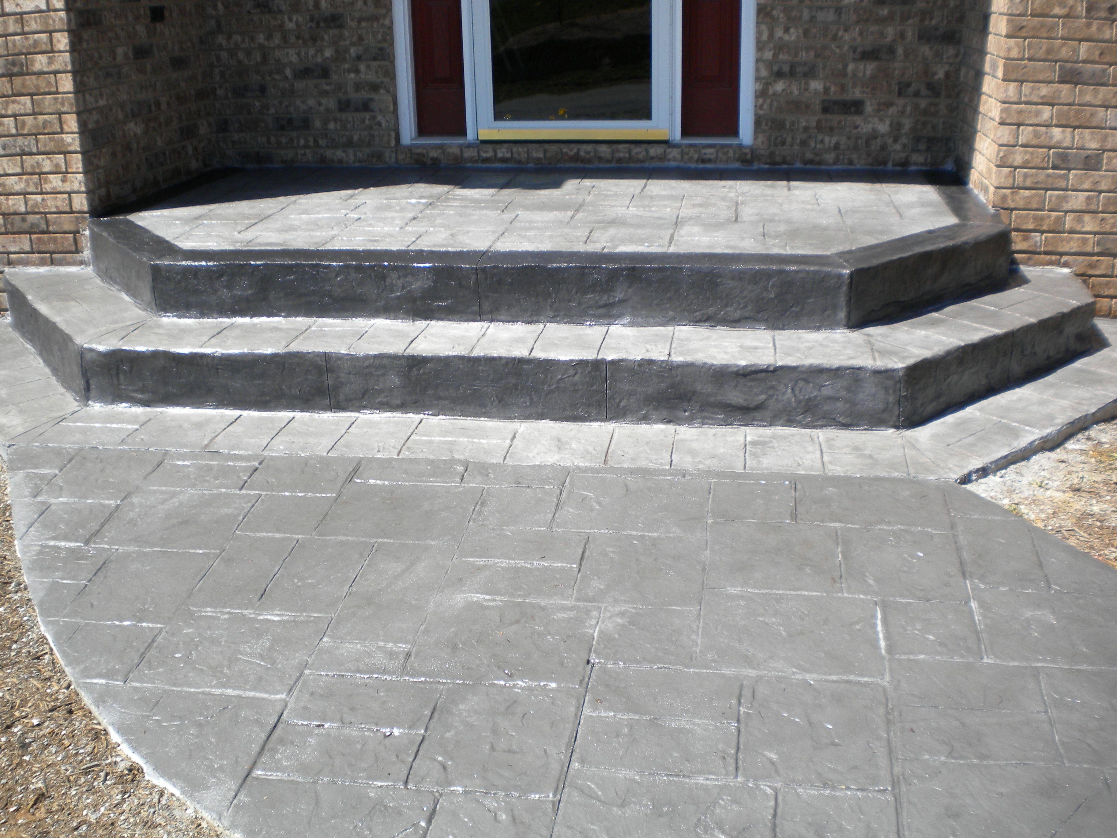 Design Concrete Builders Front Door Steps Patio Blocks Concrete Design