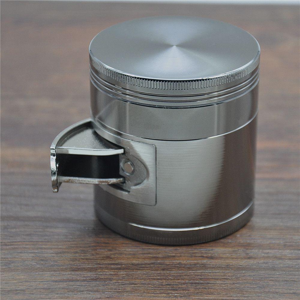 """Multi Functionele Zinklegering Metalen Grinder Tabak Grinder 4 Parts 56 MM/63 MM """"Grinder Spice Chroom Chrusher Lade Presser"""