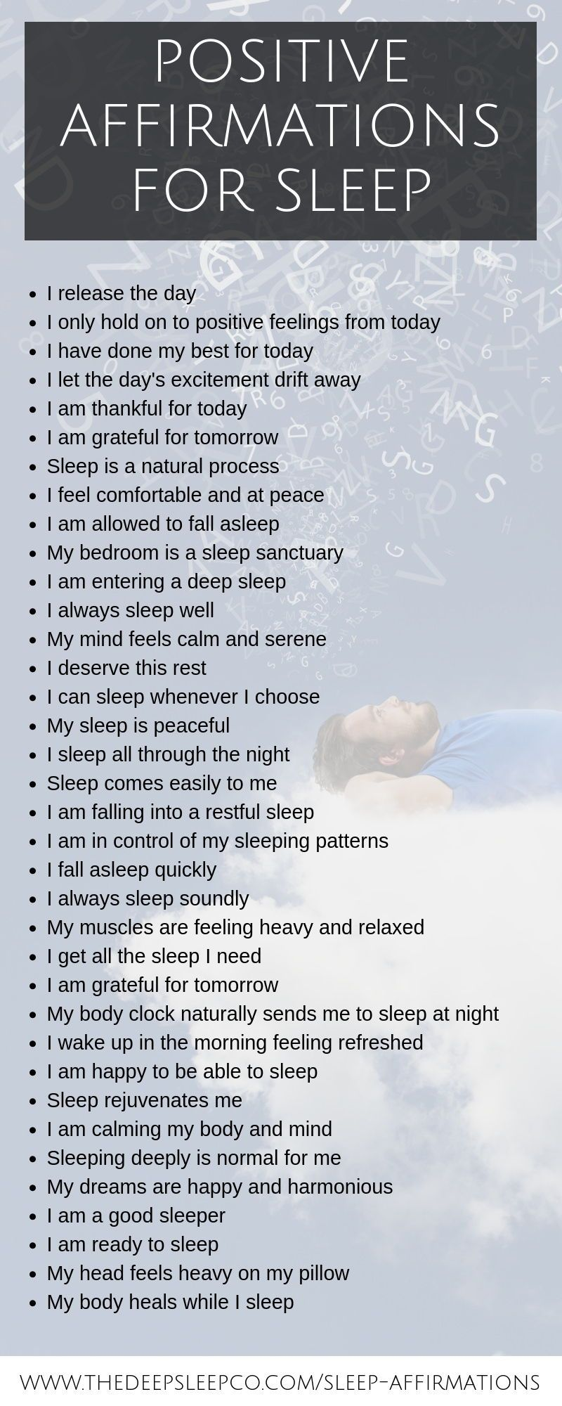 Positive sleep affirmations to help you get the perfect night's sleep
