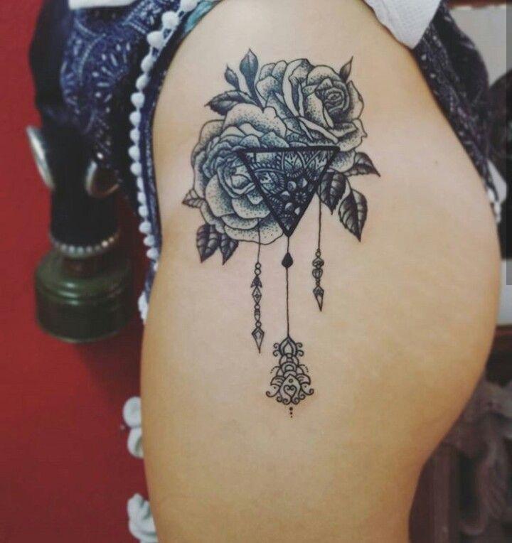 tattoo mandala roses triangle tattoo 39 s pinterest. Black Bedroom Furniture Sets. Home Design Ideas