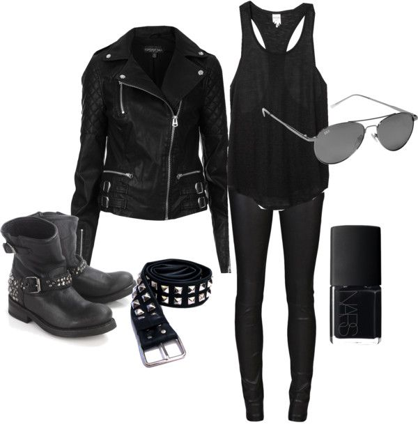 Biker Chick by doglover98-1 on Polyvore clothes and shoes - biker chick halloween costume ideas