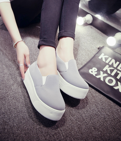 ba998a2444b Womens Trendy Thick Sole Slip-On Casual Shoes in 2019