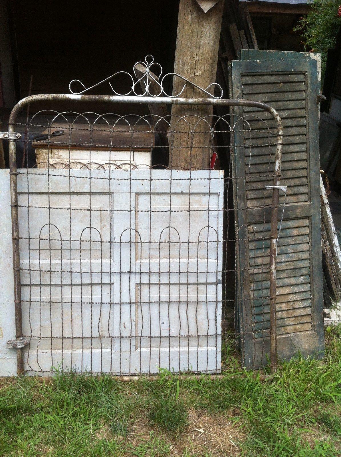 Vintage Wire Gate Garden Yard Art Cottage Style Fence | eBay | GATES ...