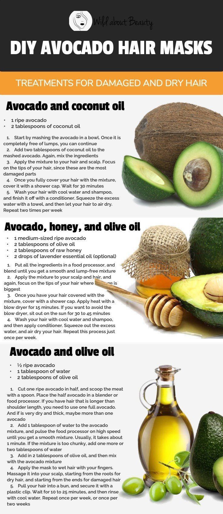 Avocado Coconut Oil Hair Mask Diy