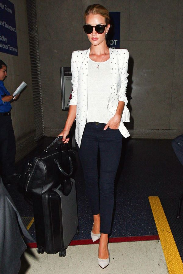 Rosie Huntington Whiteley's Slick Styling Trick | The Zoe Report
