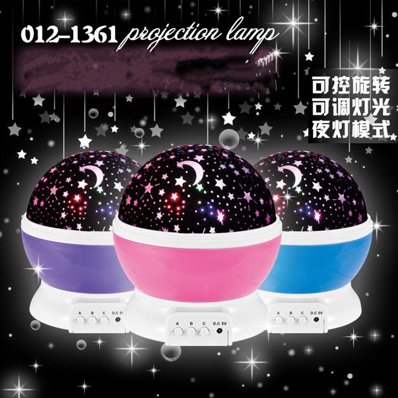 The Latest Romantic Rotation LED Stars Light Childrens Baby - Childrens disco lights bedroom
