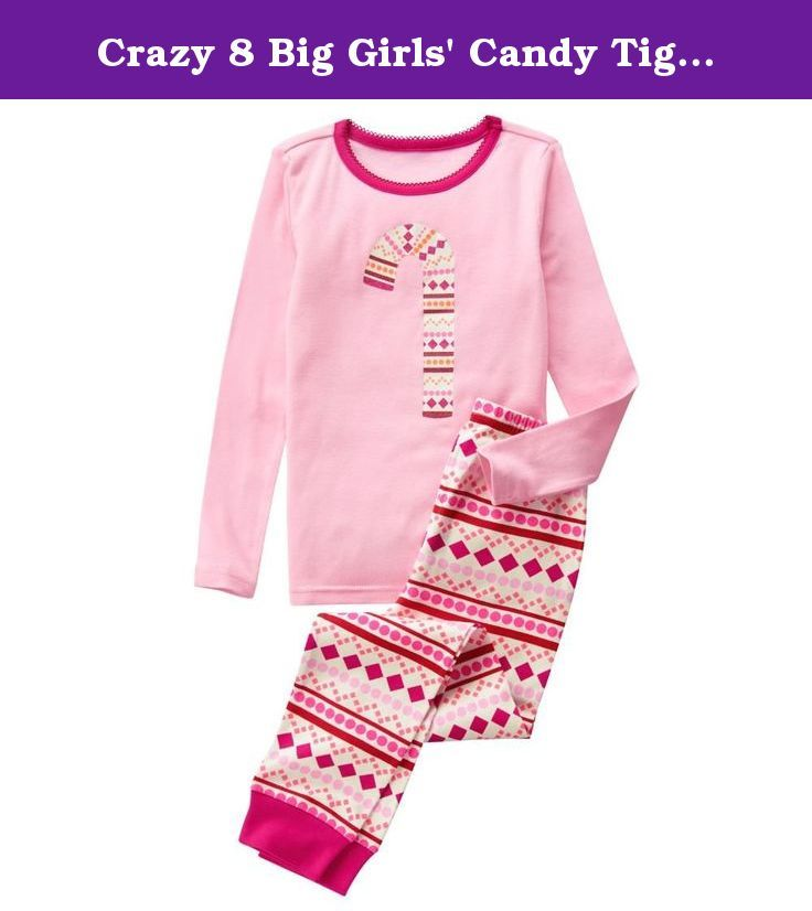 eda355d86 Crazy 8 Big Girls' Candy Tight-Fit Sleepwear, Multi, 2Y. Tight-fit pajamas  with allover printed bottom, center-front graphic top.