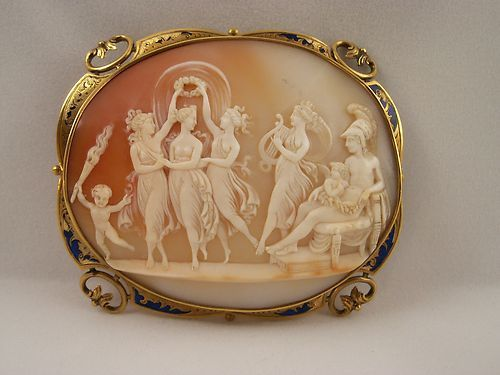 Extraordinary Antique Large French Marriage Scene Cameo Pin | eBay