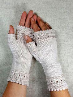 Photo of Fingerlose Handschuhe mit Perlen – Frostpfoten – Armstulpen und Knotentaschen