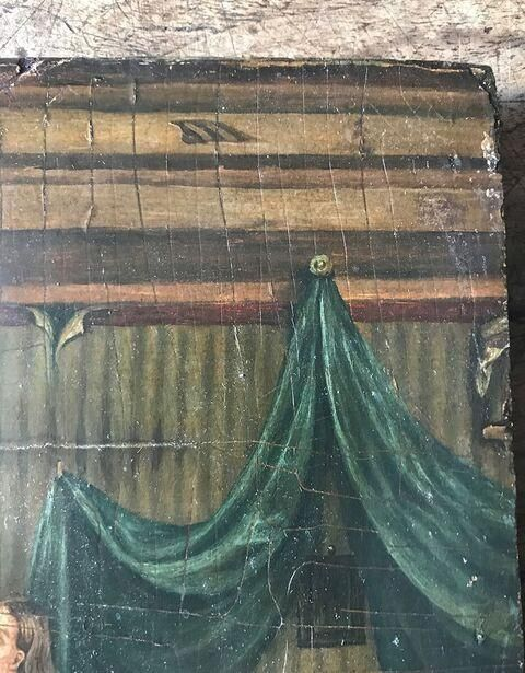 Oil Painting On Wood Panel (possibly Bristol School), C