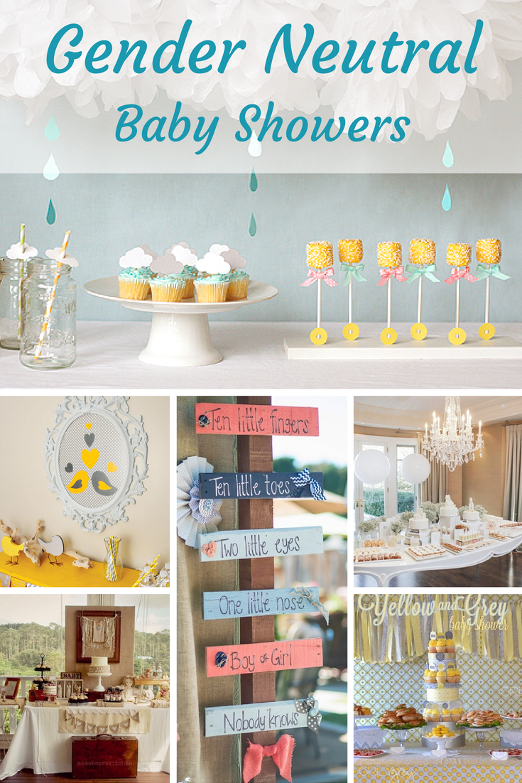 Unknown Neutral Gender Baby Shower Party Themes Color Ideas Neutral Baby Shower Baby Shower Party Themes Baby Shower Gifts