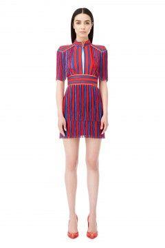 Mini abito righe con frange - Elisabetta Franchi  9a3cd7251c1