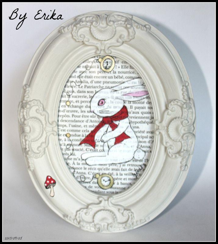 Le lapin blanc, posca by Erika - tableaux, peintures - By Erika - dessiner sa chambre en d