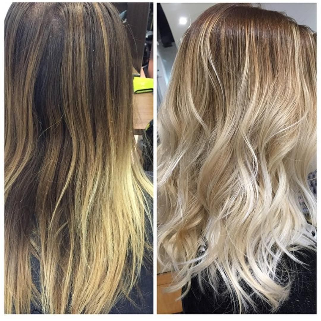 Favorite Before And After From Brassy Blond To A Beautiful