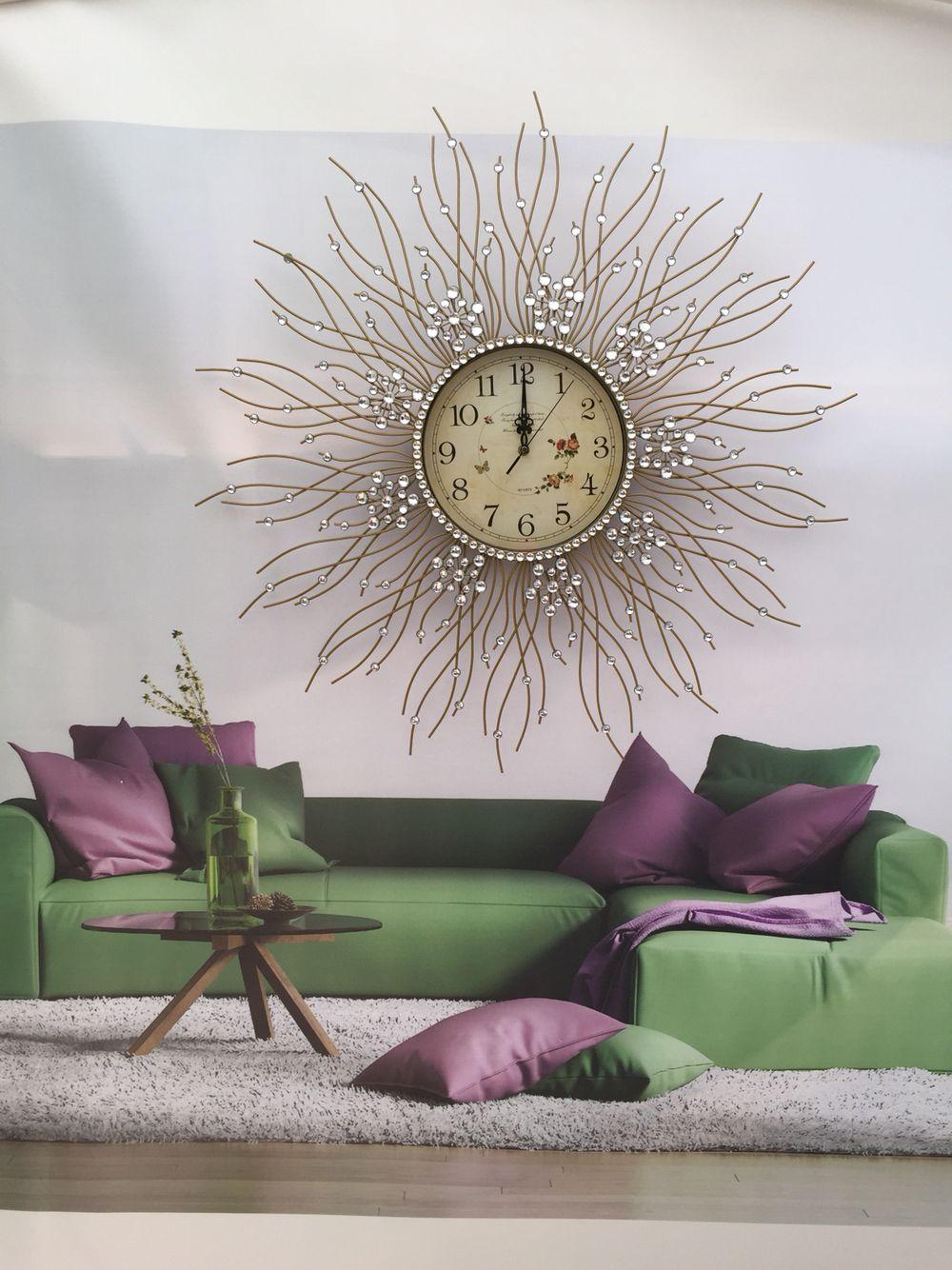 Hoo New York Lovely Clock Crystal Clock Hand Make Clock Modern Living Room Wall Wall Clocks Living Room Cool Walls