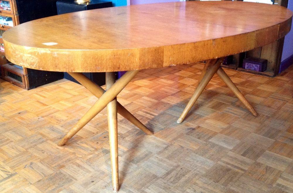 These table legs!!     T.H. robsjohn- gibbings jack leg table designed for widdicomb