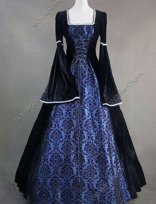 Queen Elizabeth I Medieval Renaissance Velvet Ball Gown Game of ...