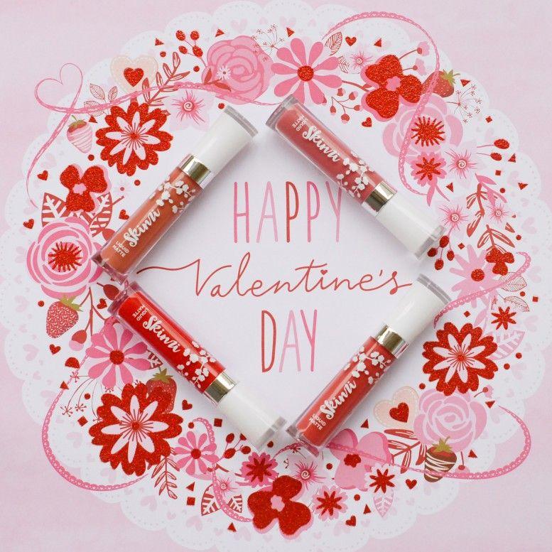 Happy Valentine's Day, Beauties! ❤❤❤ #veganmakeup #crueltyfree #lipsticklover #lipsticks #redlipstick #bblogger #makeupartist #beautylover #makeuptutorial #skinzi #lipmatte #matteliquidlipstick #makeupaddiction #cosmetics #maquillaje