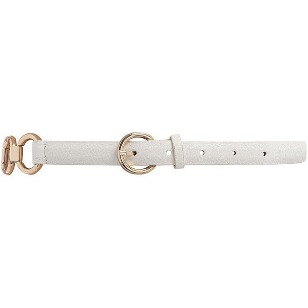 White circle link waist belt ($9) ❤ liked on Polyvore featuring accessories, belts, cintos, dorothy perkins, white belt, white waist belt and waist belt