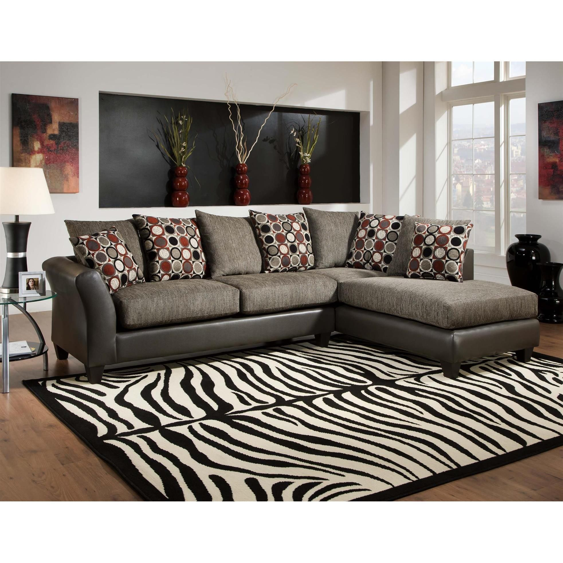 Excellent Sofa Trendz Diana Graphite Gray Two Tone Sectional Diana Beatyapartments Chair Design Images Beatyapartmentscom