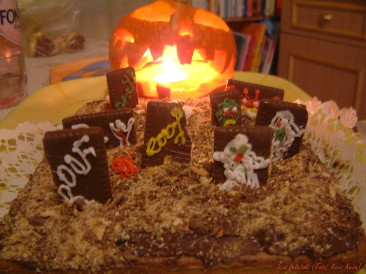 Diós-csokis süti Halloweenre (Fotó: Kéri Kata)