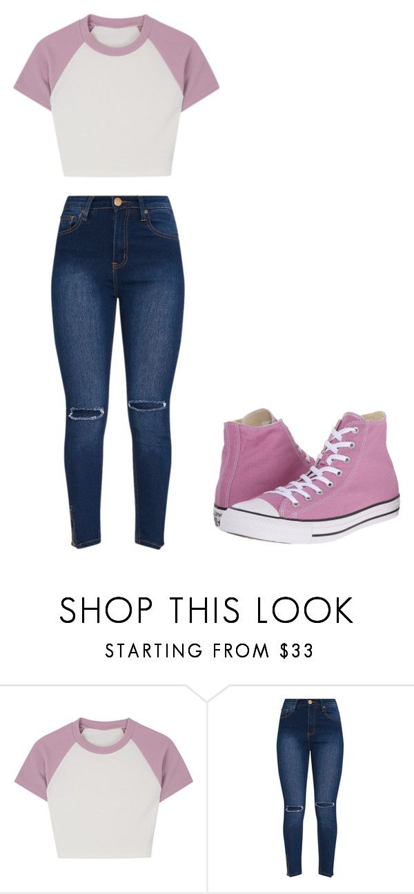 """Untitled #358"" by thenerdyfairy on Polyvore featuring Converse"