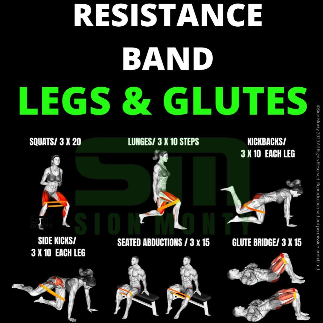 Resistance Bands Moves for glutes and legs Workout You Can Do ...