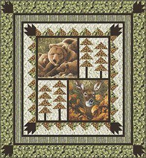 North Wooks Free Quilt Patterns Wildlife Quilts