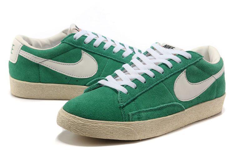best website 1e905 c42ab Homme Nike Blazer Low Premium Vintage Daim Vert WH11